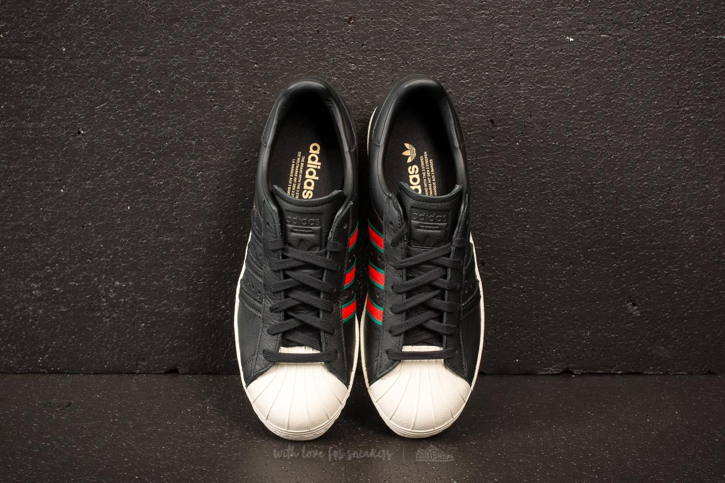 new product 24434 66a77 adidas Superstar 80s Core Black/ Green/ Red | Footshop