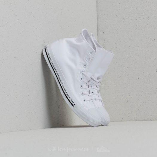 Converse Chuck Taylor All Star Hi White White Black   Footshop