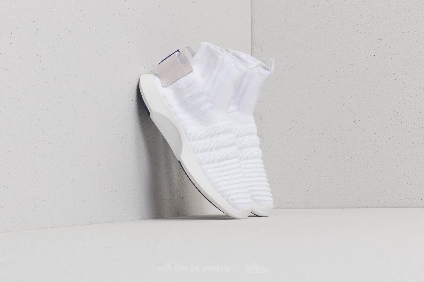 adidas Crazy 1 ADV Sock Primeknit (ASW) Ftw White Ftw White Real Purple | Footshop