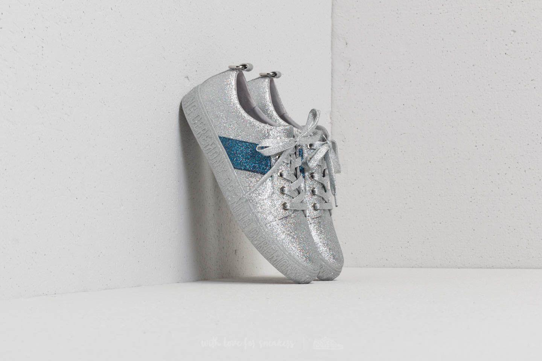 Women's shoes Opening Ceremony La Cienega Glitter Silver/ Blue