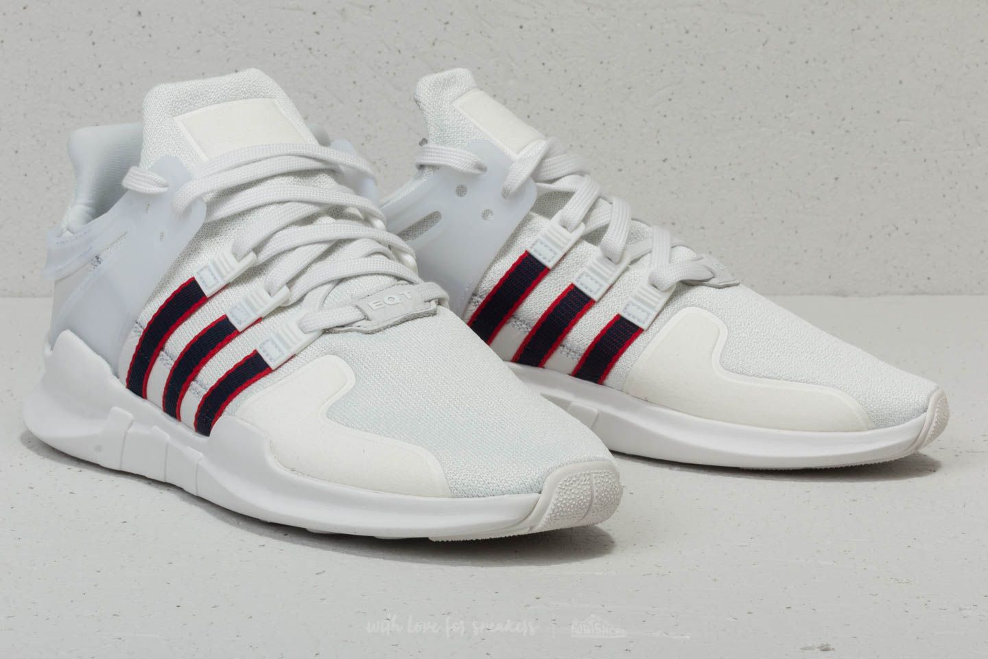 adidas EQT Support ADV Crystal White Collegiate Navy Scarlet | Footshop