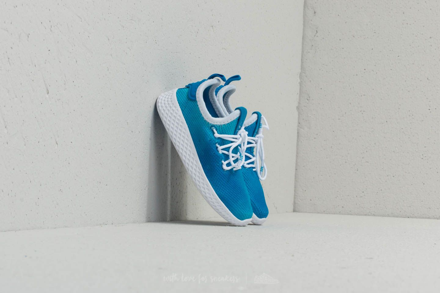 Zapatillas de niño adidas x Pharrell Williams Tennis HU I Bright Blue/ Ftw White/ Ftw White