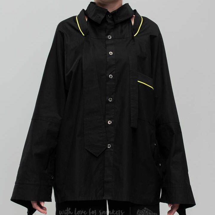 Footshop x Petra Ptáčková ZERO WASTE Cut Out Longsleeve Shirt Black