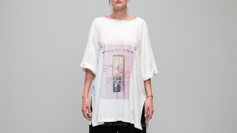 Footshop x Petra Ptáčková ZERO WASTE Basic Stitched T-Shirt White