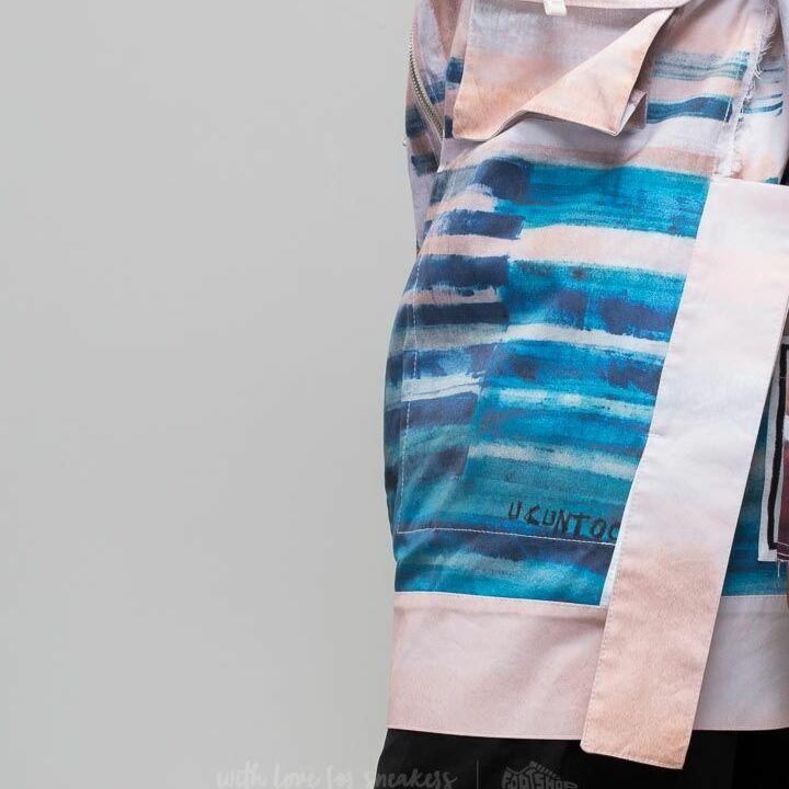 Footshop x Petra Ptáčková ZERO WASTE Hurricane Print Sack Jacket White/ Blue, Multicolour