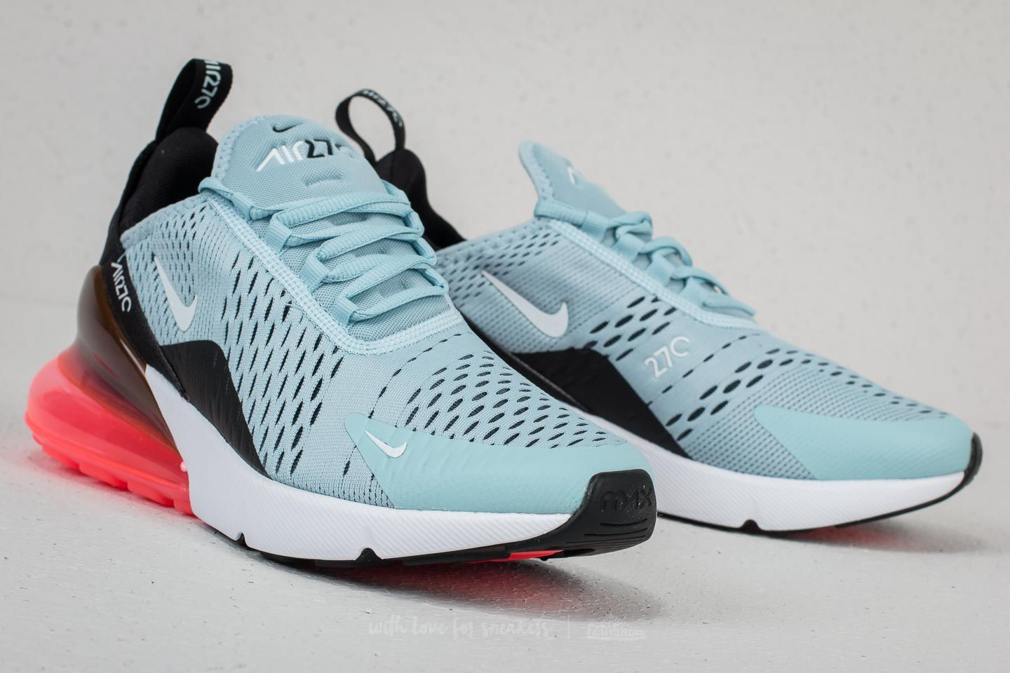 Nike W Air Max 270 Ocean Bliss White Black | Footshop