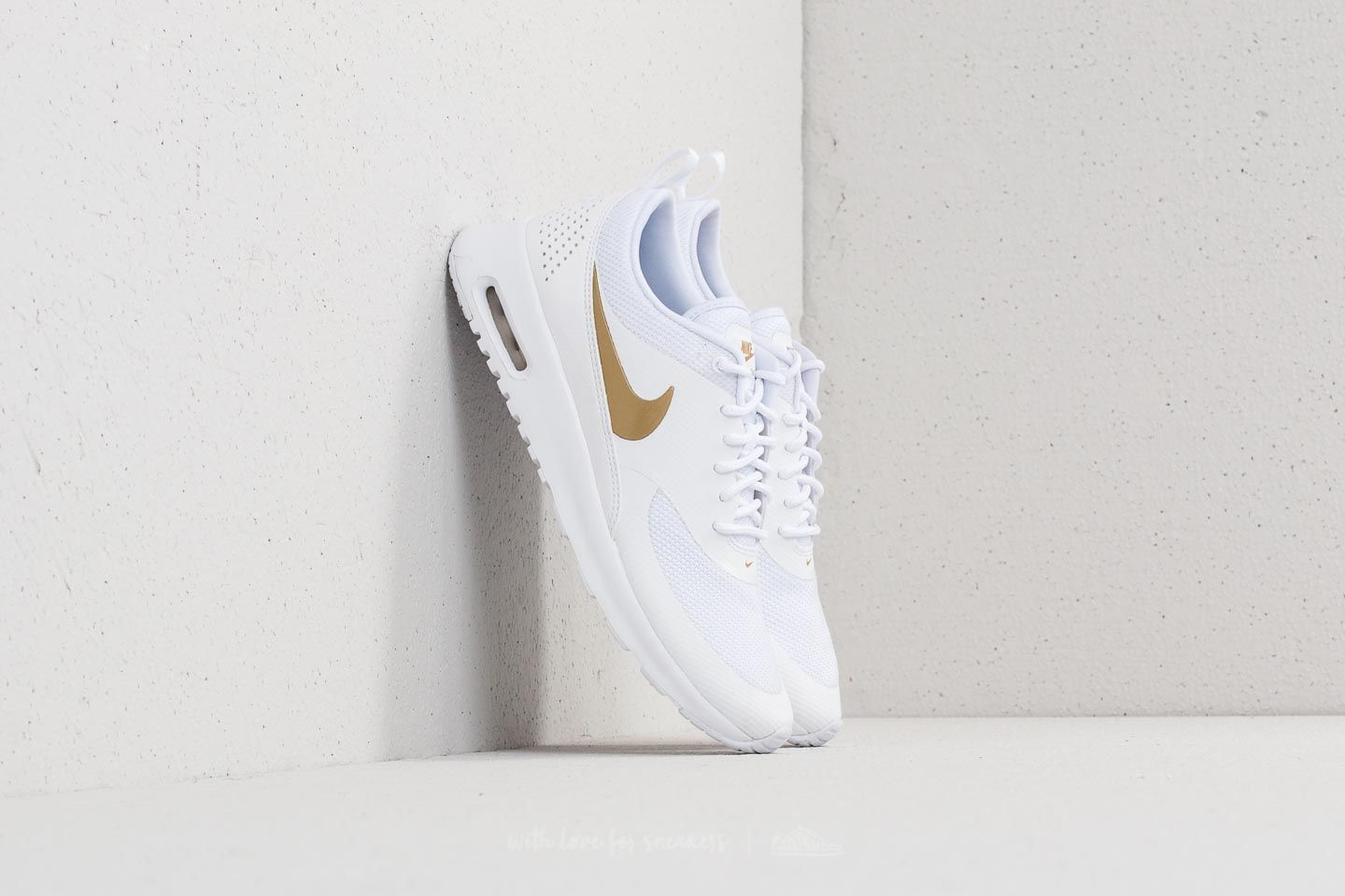 c89dbf01a Nike Wmns Air Max Thea J White  Metallic Gold  White