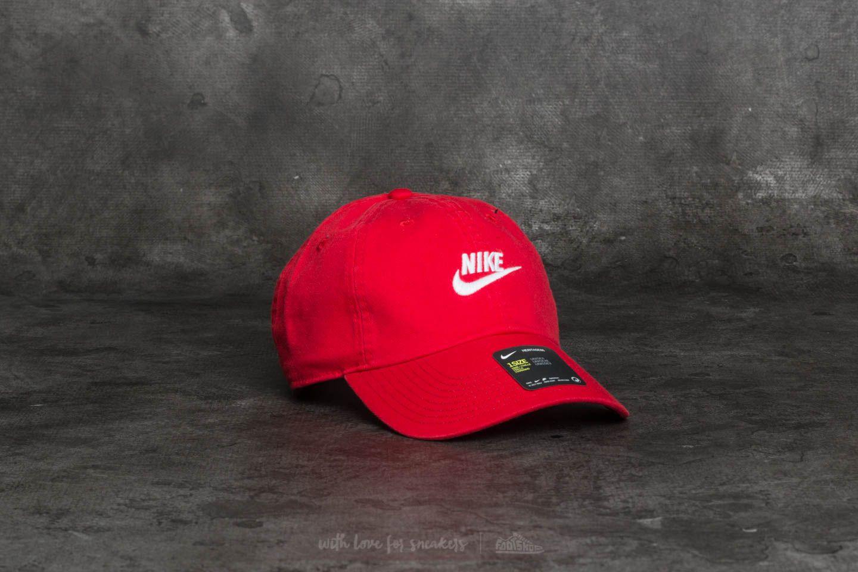 138fab993 Nike Sportswear Heritage 86 Futura Washed Cap Red | Footshop