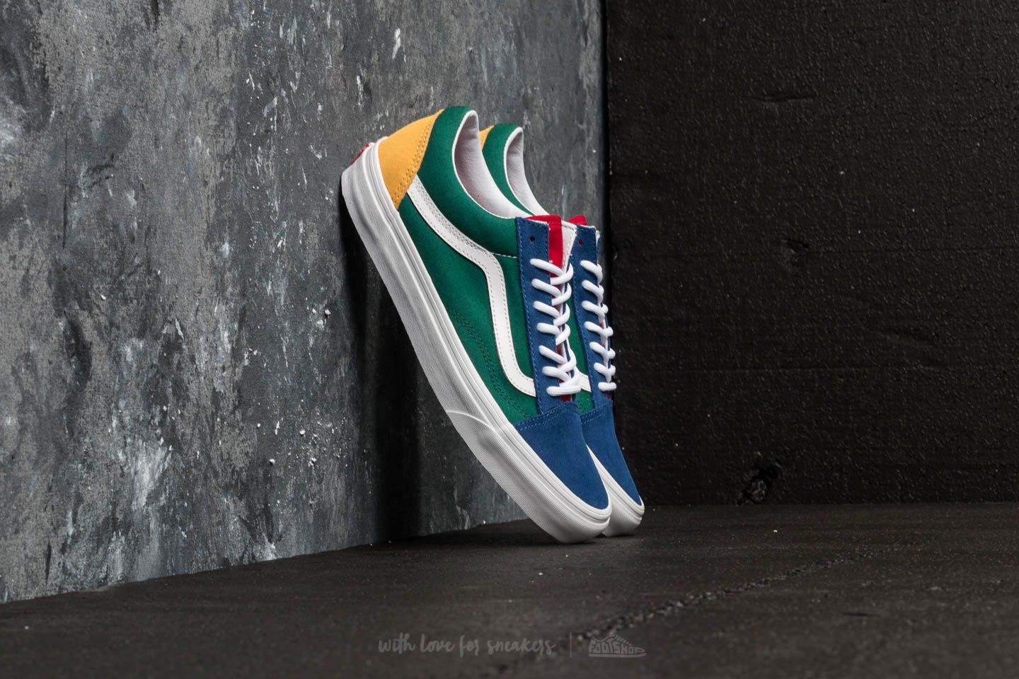 9861f0a3bae Vans Old Skool (Vans Yacht Club) Blue/ Green/ Yellow | Footshop