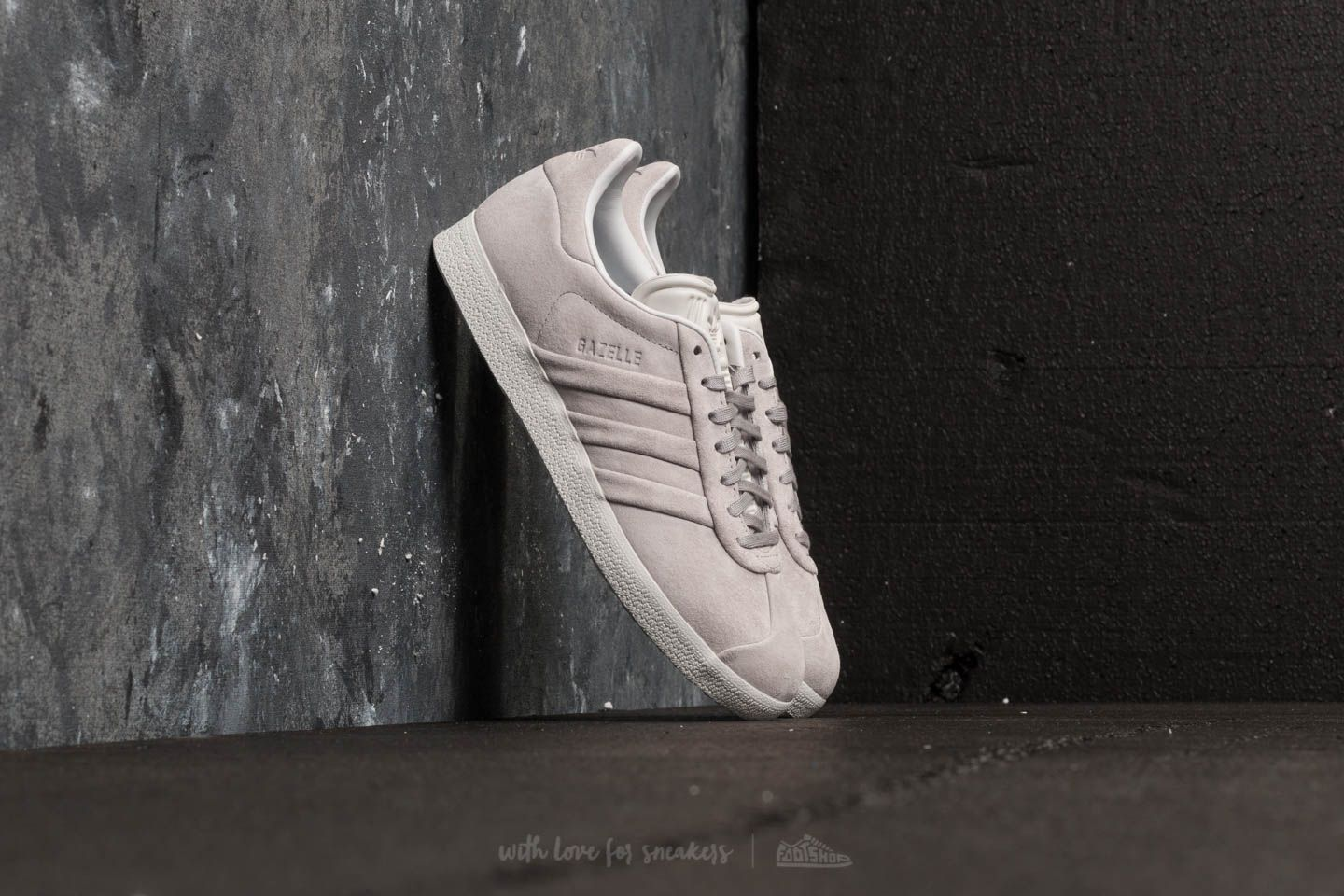 3391cfbcb4b04b adidas Gazelle Stitch And Turn W Grey Two  Grey Two  Ftw White ...