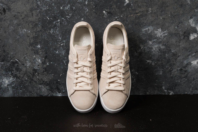 adidas campus stitch and turn beige
