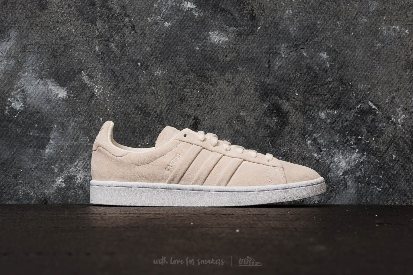 best website d14ad 178c2 adidas Campus Stitch And Turn Chalk White Chalk White Ftw White at a great