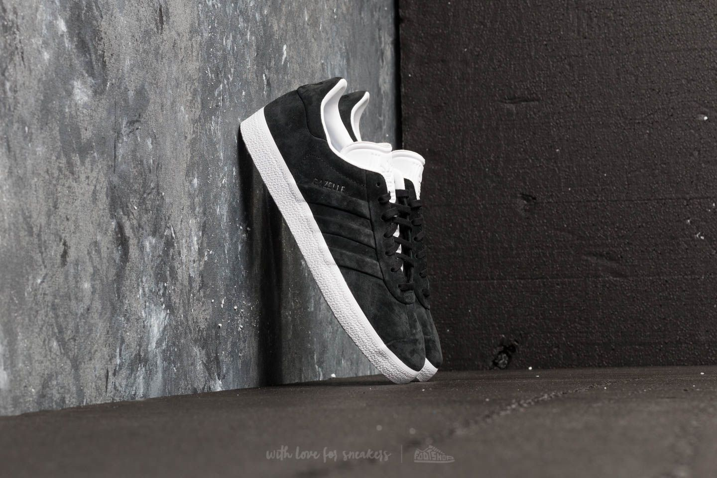 new concept 5d082 b15f0 adidas Gazelle Stitch And Turn. Core Black Core Black Ftw White