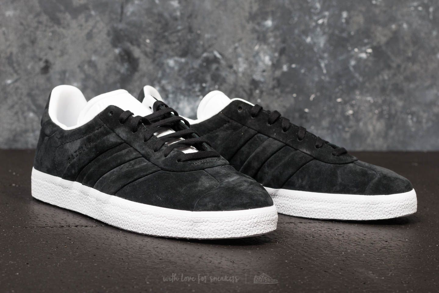 5d9514fc6bb adidas Gazelle Stitch And Turn Core Black/ Core Black/ Ftw White ...