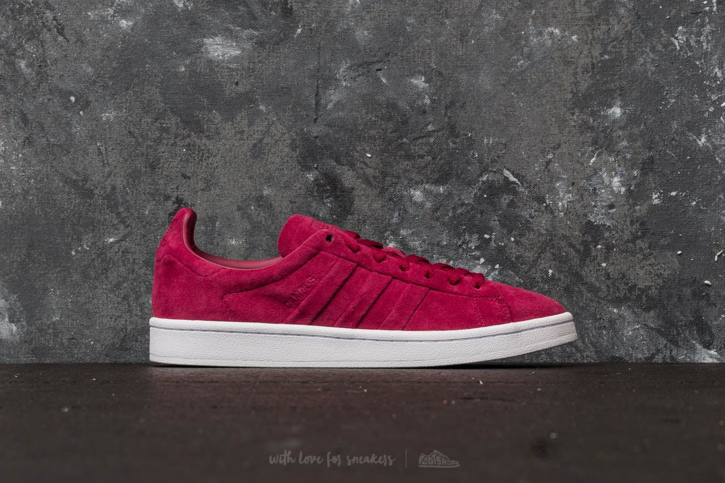 best service 5b49e 7b21a adidas Campus Stitch And Turn Mystery Ruby Mystery Ruby Ftw White at a  great