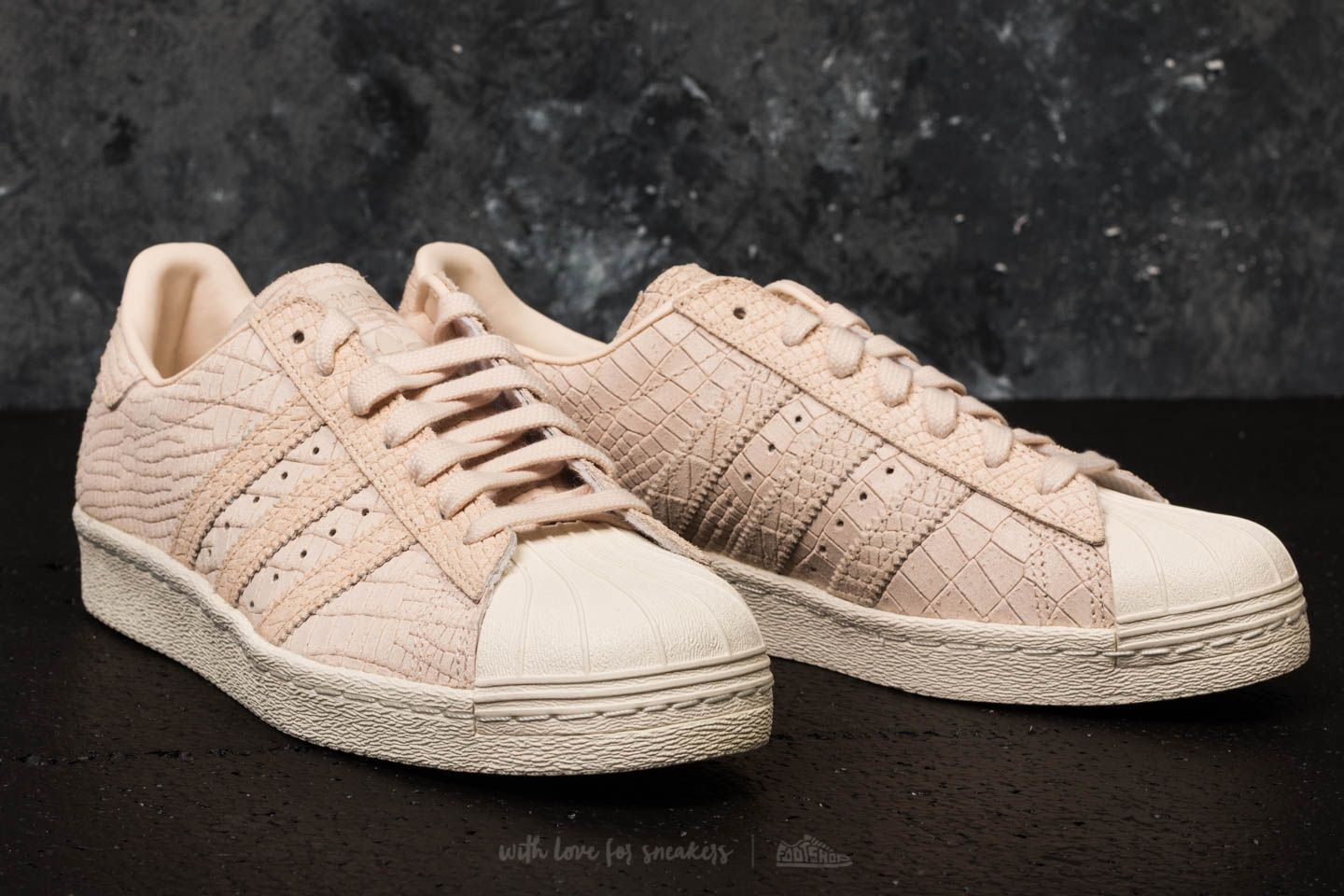 adidas Superstar 80s W Linen Linen Off White | Footshop