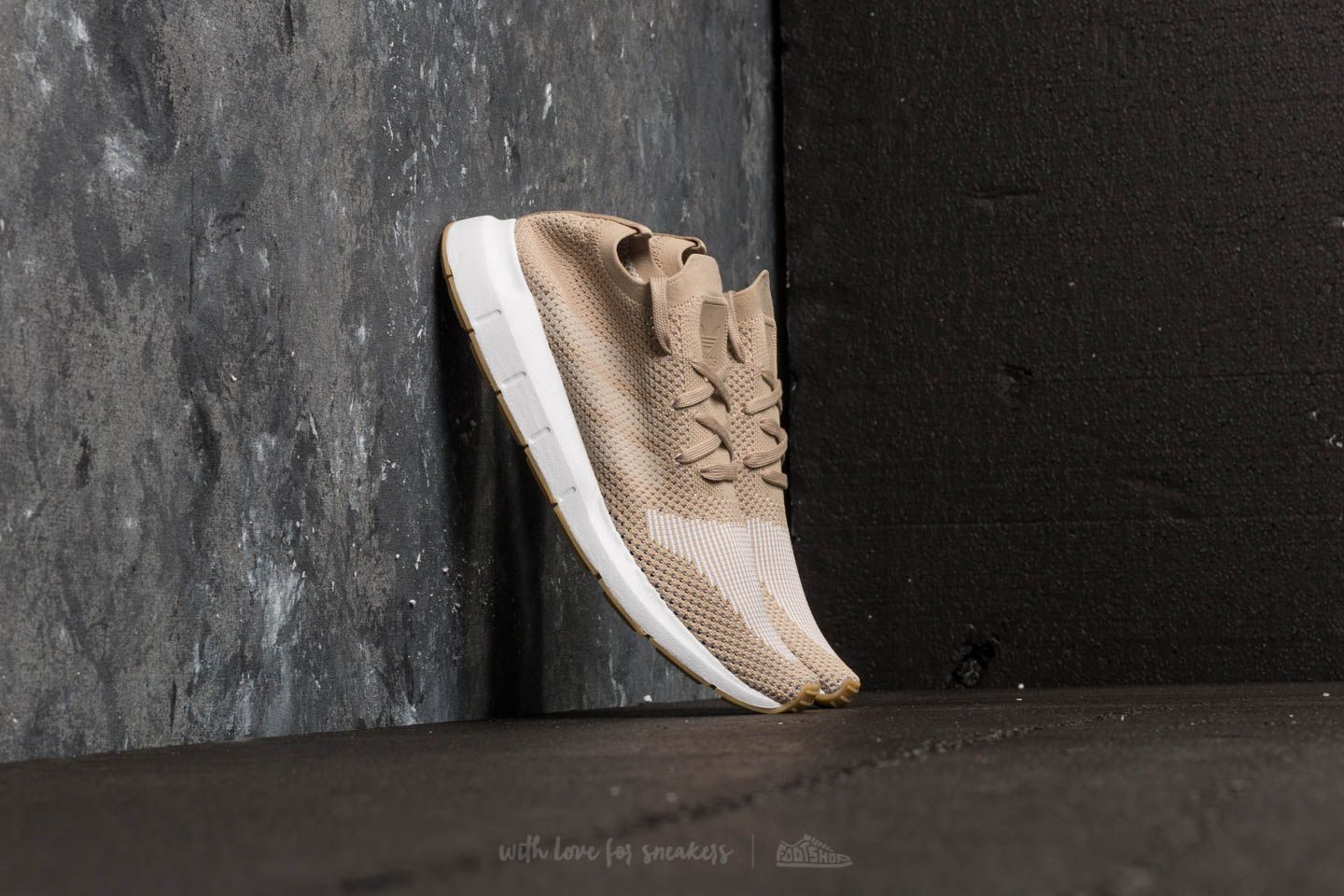 a0ec12d795e adidas Swift Run Primeknit Raw Gold  Off White  Ftw White at a great price