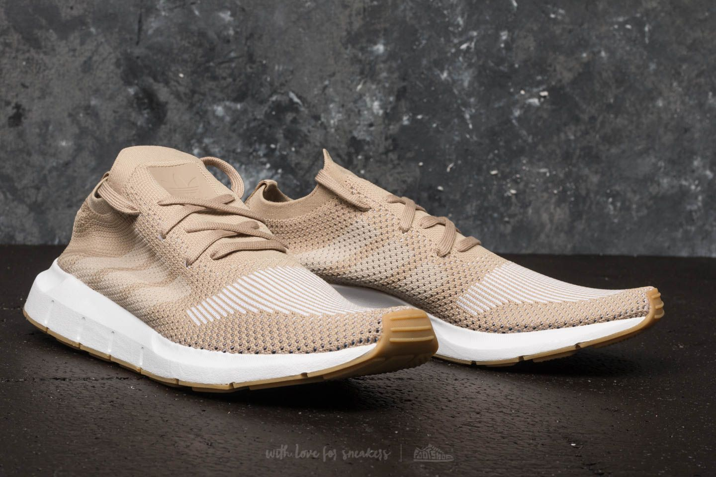 4b7a9684d4e6a0 adidas Swift Run Primeknit Raw Gold  Off White  Ftw White at a great price