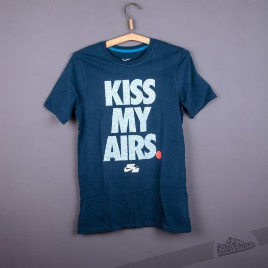 Nike Air Kiss My Airs Tee Blue | Footshop