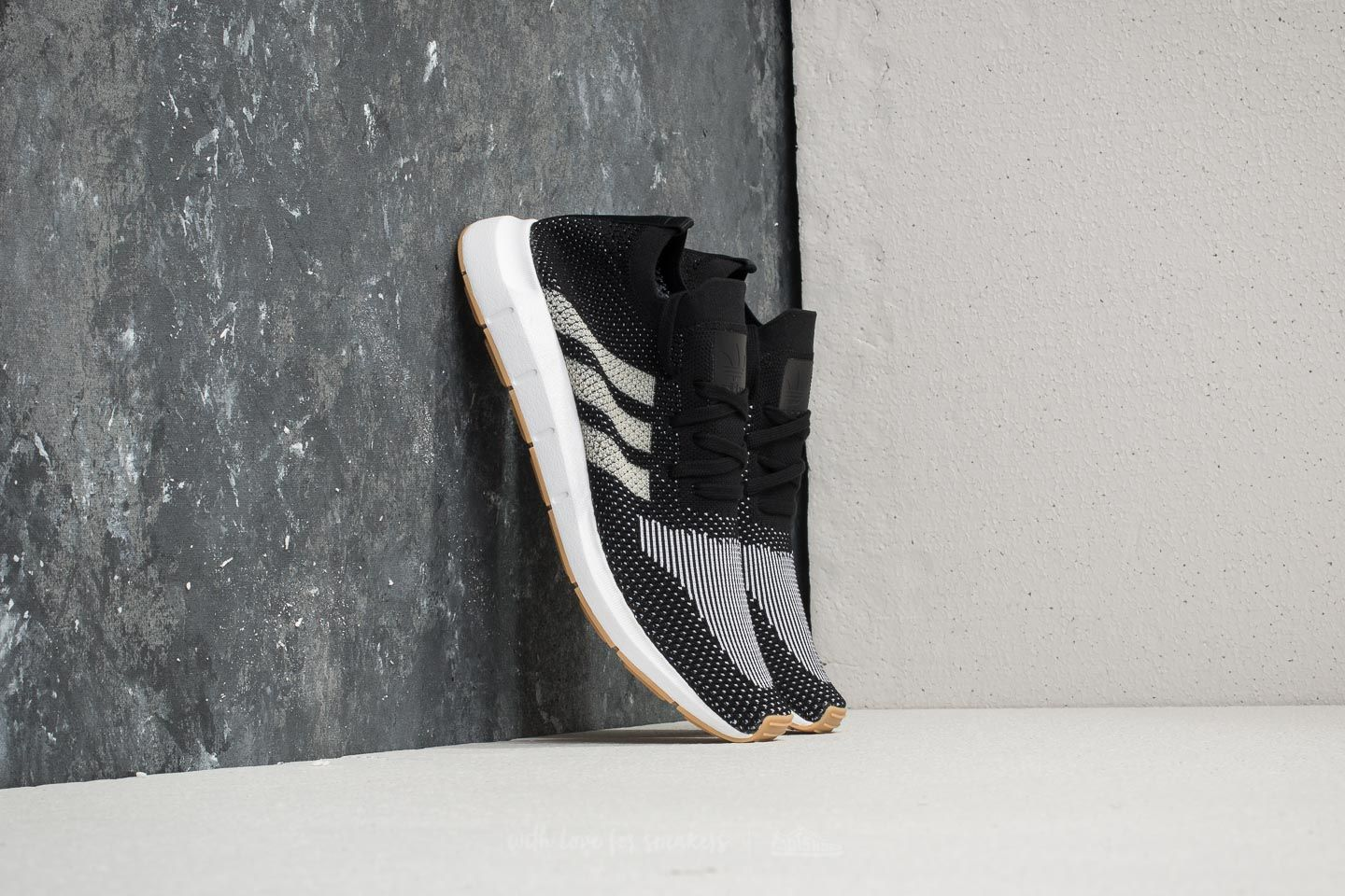 aba80fcb319f8 adidas Swift Run Primeknit Core Black  Off White  Ftw White