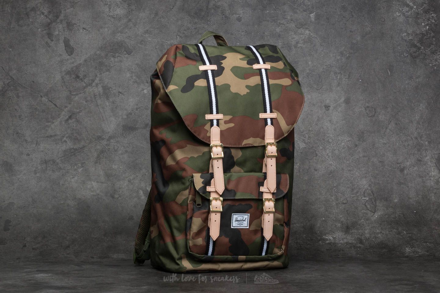 8fc9971e184 Herschel Supply Co. Little America Backpack Woodland Camo  Black ...