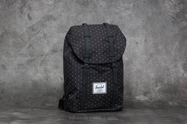 Herschel Supply Co. Retreat Backpack Black Gridlock  Black Rubber ... 14189703e9