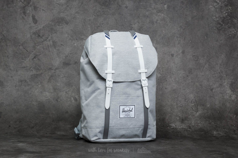 ec9d85545f4 Herschel Supply Co. Retreat Backpack Light Grey Crosshatch/ White ...