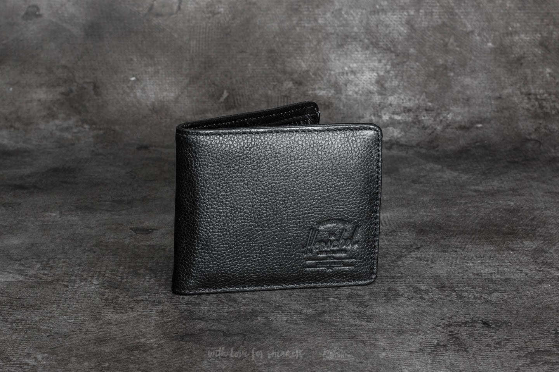 Herschel Supply Co. Hank + Coin Wallet Black Pebbled Leather za skvělou cenu 1 290 Kč koupíte na Footshop.cz
