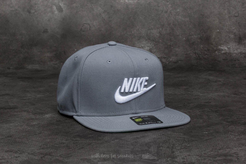 f02bc98e5 Nike Sportswear Futura Pro Cap Cool Grey/ White | Footshop