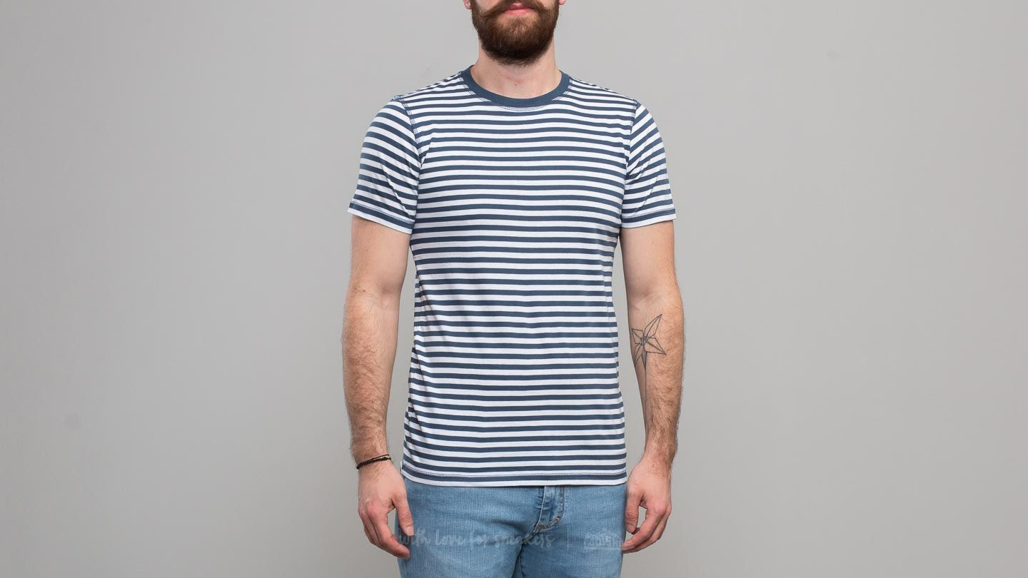 Norse Projects Niels Classic Stripe Tee Annodized Blue