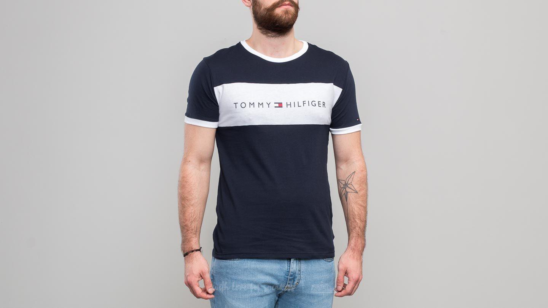 Tommy Hilfiger Flag Logo T Shirt Navy