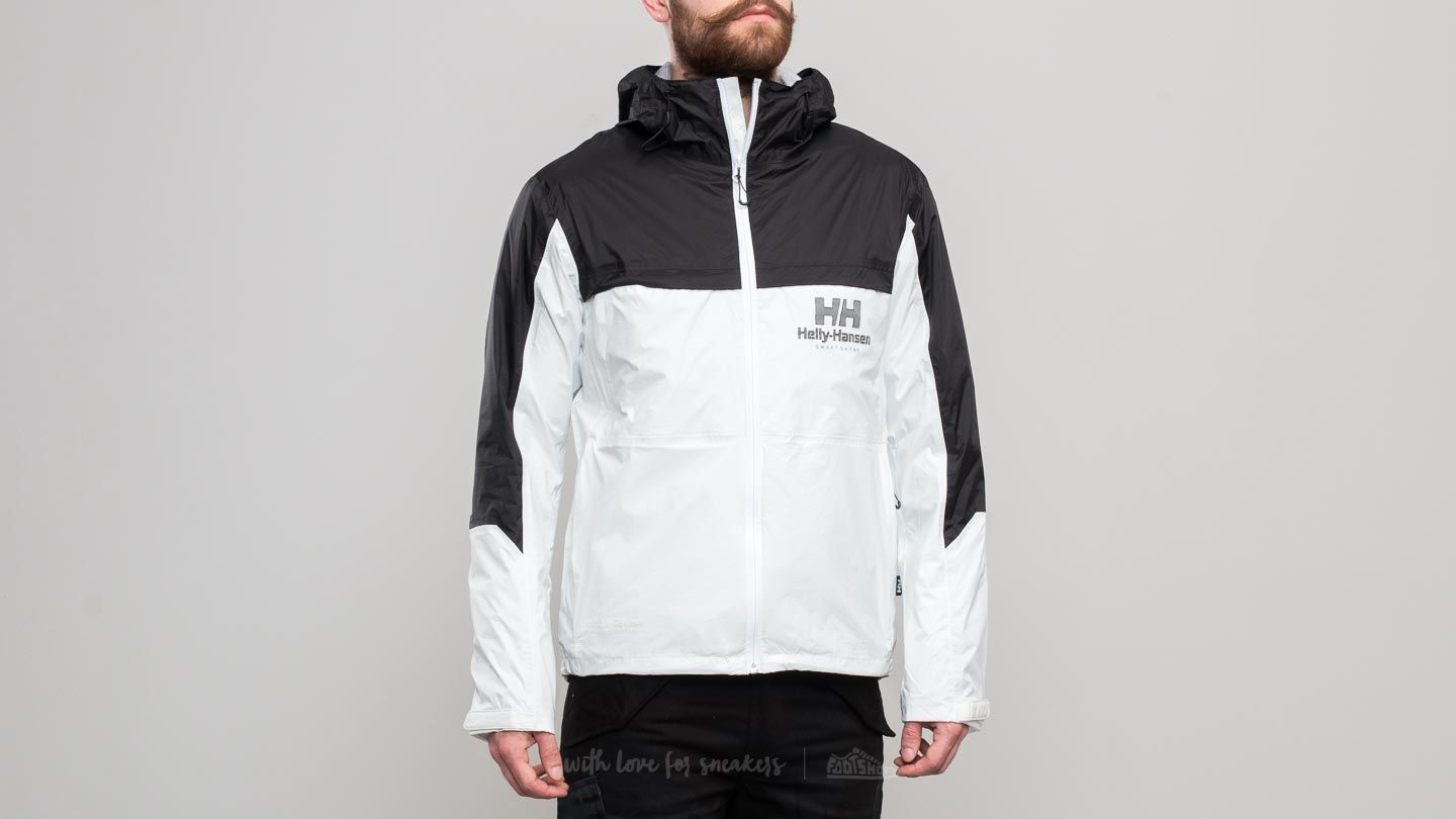 SWEET SKTBS Helly Hansen Windbreaker Jacket White Black | Footshop