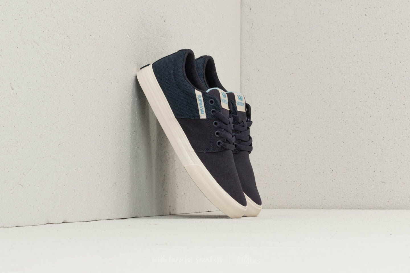 Supra Stacks Vulc II Navy/ Aquifer-White