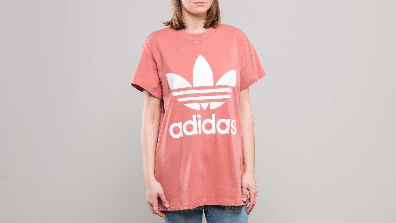 adidas Big Trefoil Tee Ash Pink  c1416c436cd2