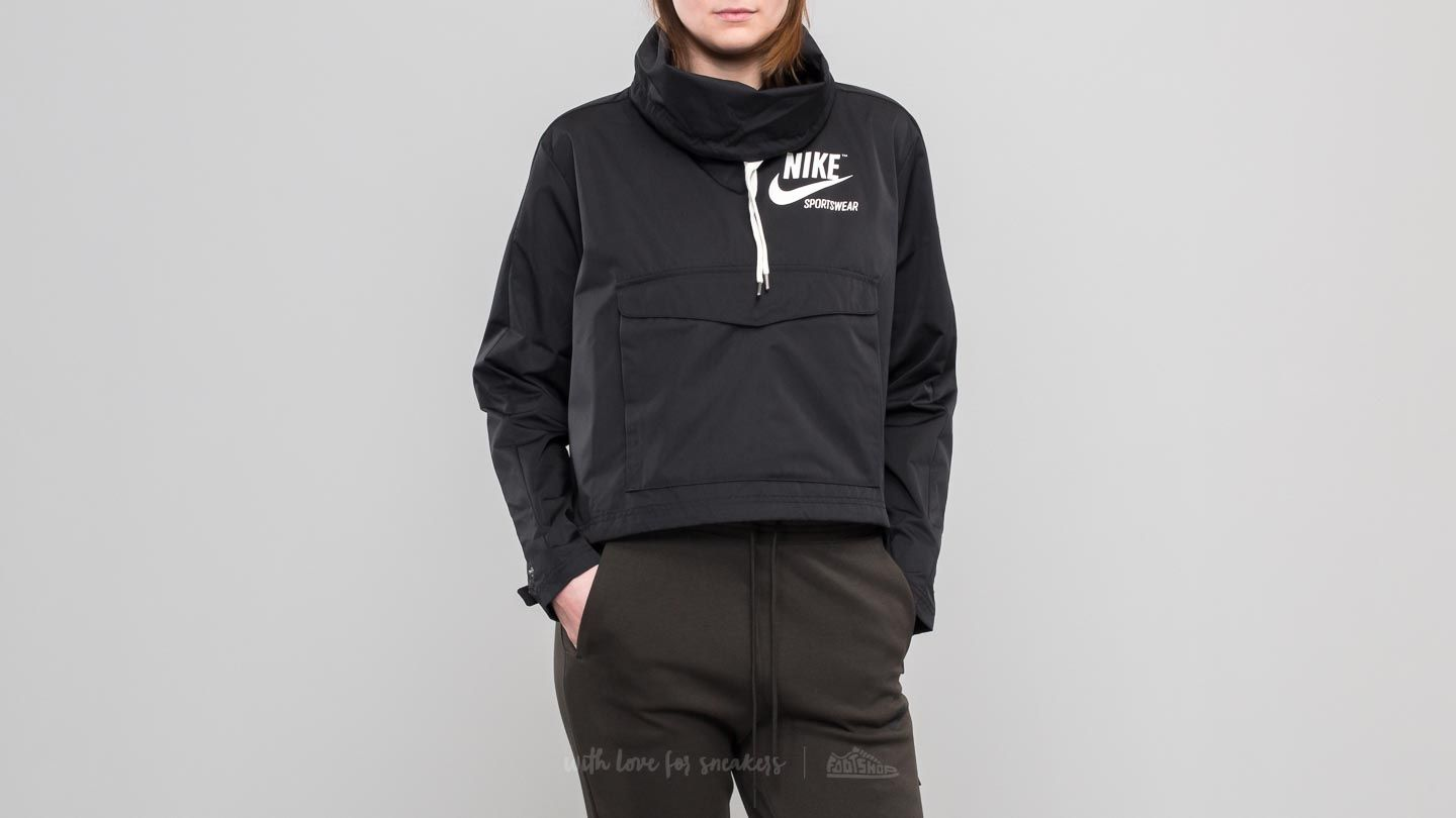 new product 8753a 96978 Nike Sportswear Archive Pullover Jacket Black