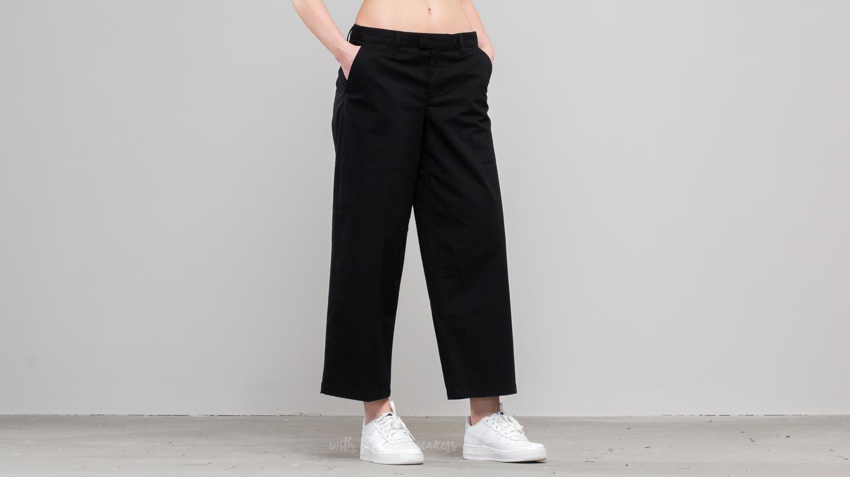 Džíny a kalhoty Vans Authentic Wide Leg Trousers Black