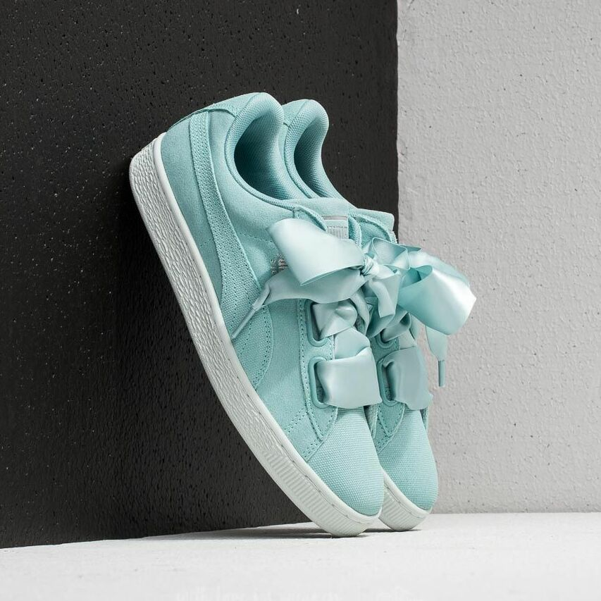 Puma Suede Heart Pebble Wn's Aquifer/ Blue Flower EUR 38.5