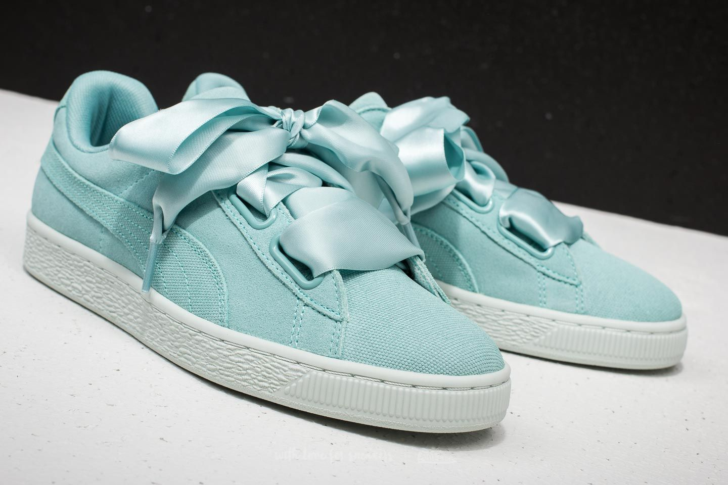 new arrival 9817f f6631 Puma Suede Heart Pebble Wn's Aquifer/ Blue Flower | Footshop