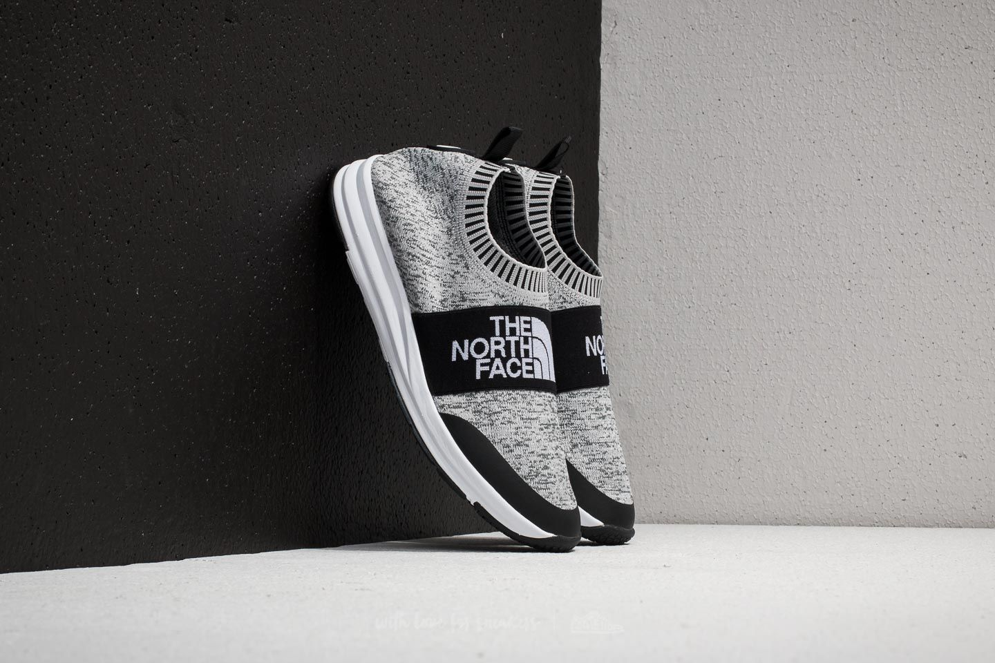 04858a206 The North Face NSE Traction Knit Moc Heather Grey/ TNF White | Footshop