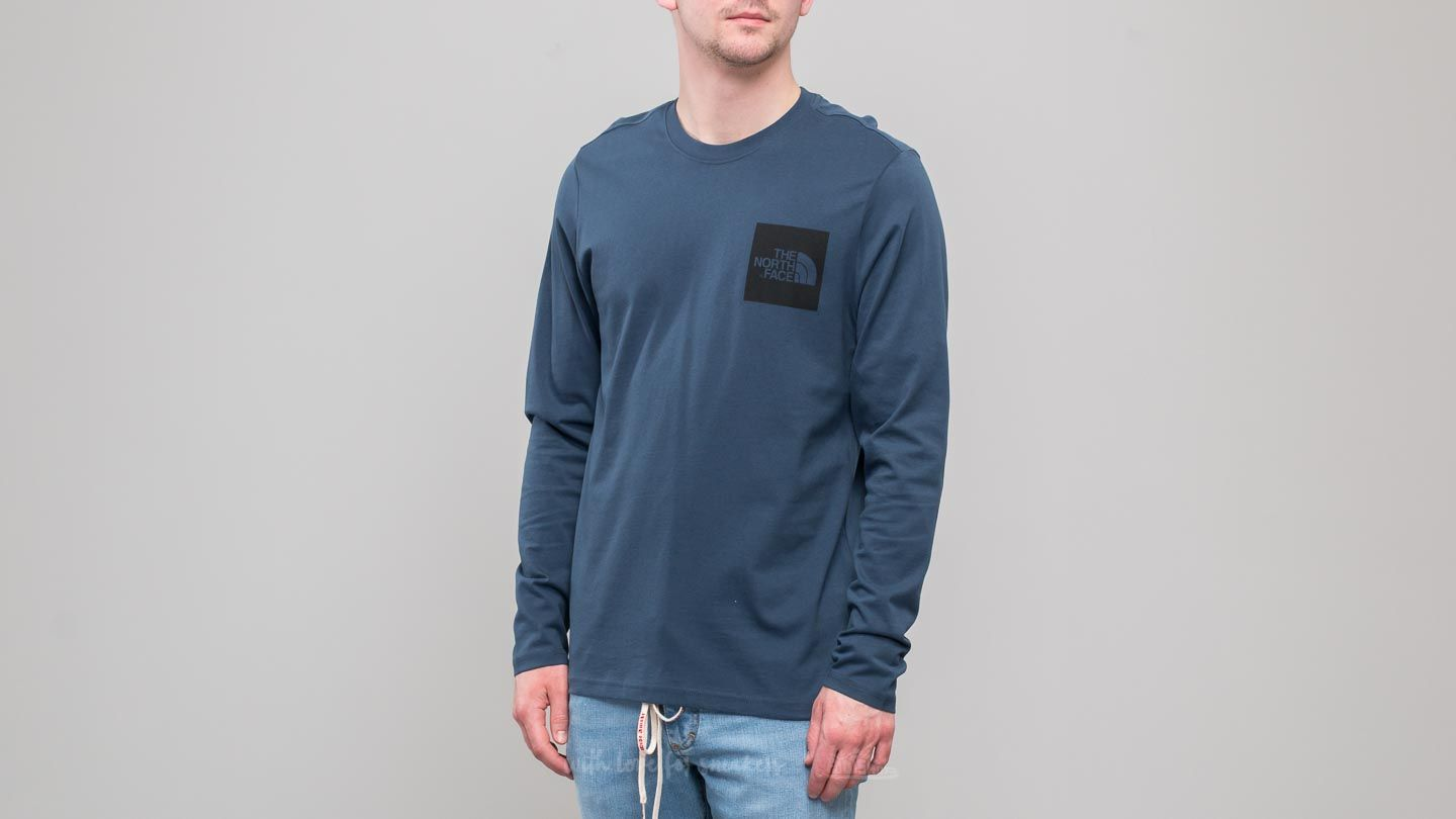 Majice T-shirt The North Face Longsleeve Fine Tee Blue Wing Teal