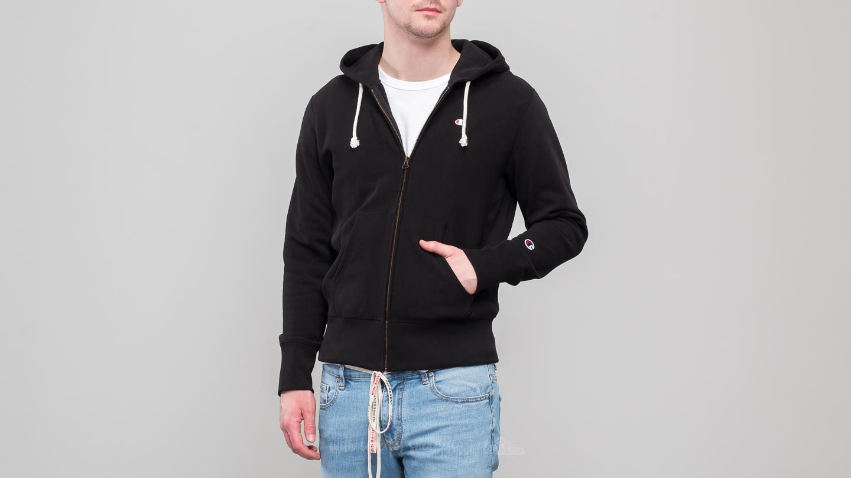 da5a36b54d30 Champion Hooded Full Zip Sweatshirt Black