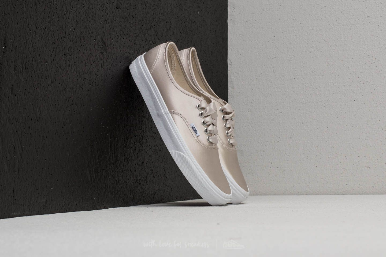 7c6831f6af Vans Authentic (Satin Lux) Light Silver  True White