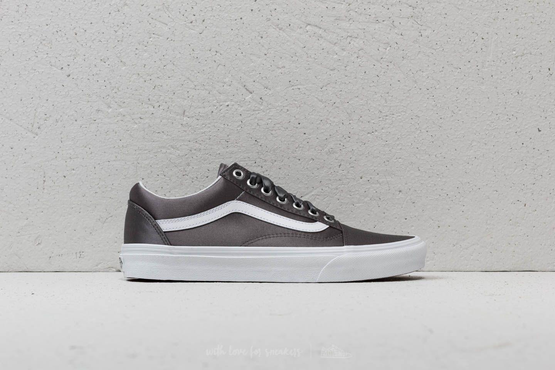 Vans Old Skool (Satin Lux) Gray True White | Footshop