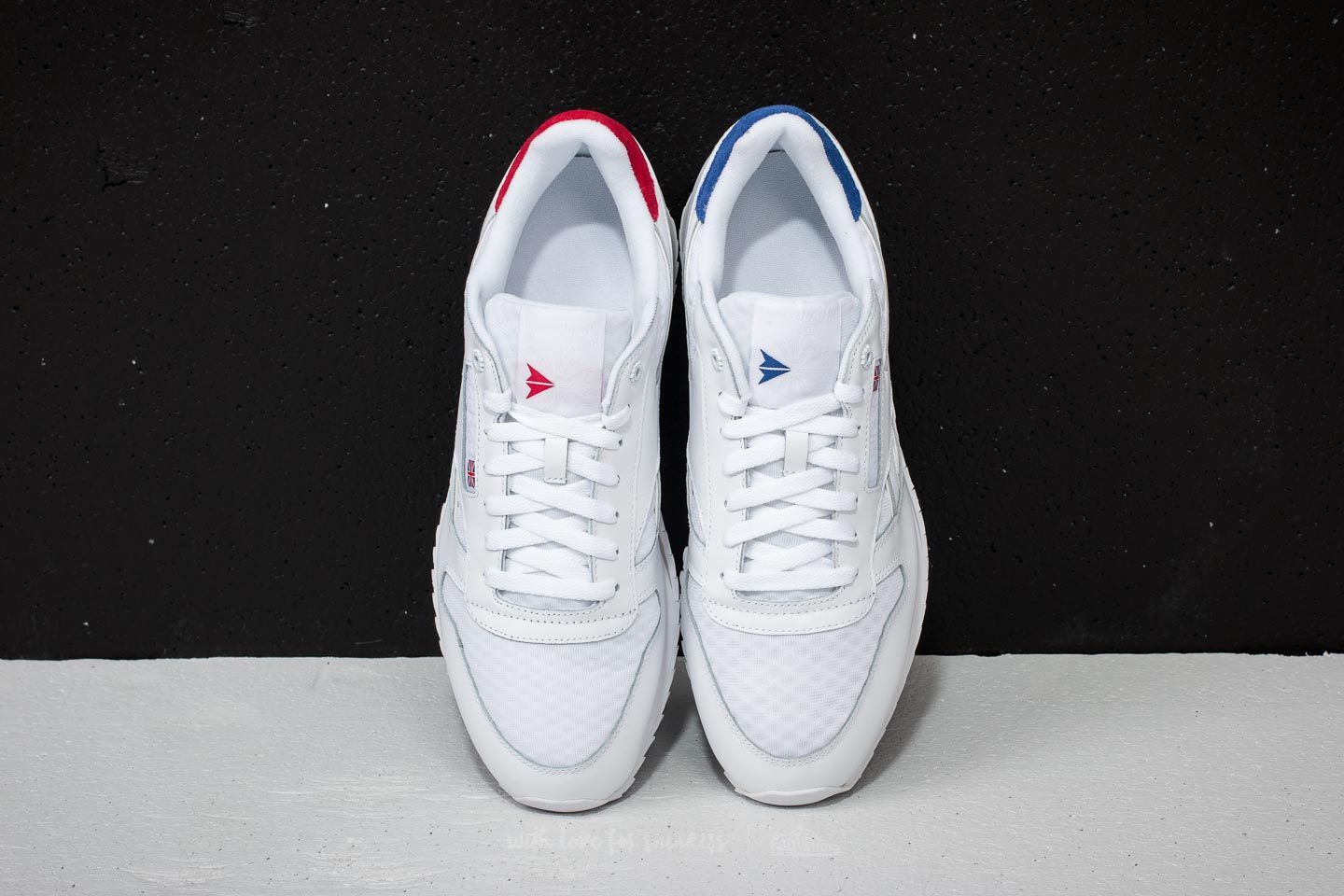 Reebok Classic Leather HC White  Excellent Red  Team Dark Royal  Steel at a 9dad2f0c7