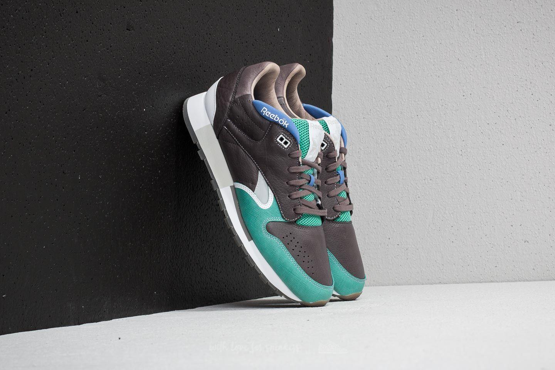 Reebok Classic Leather Urge Cool Grey/ Green/ White/ Blue