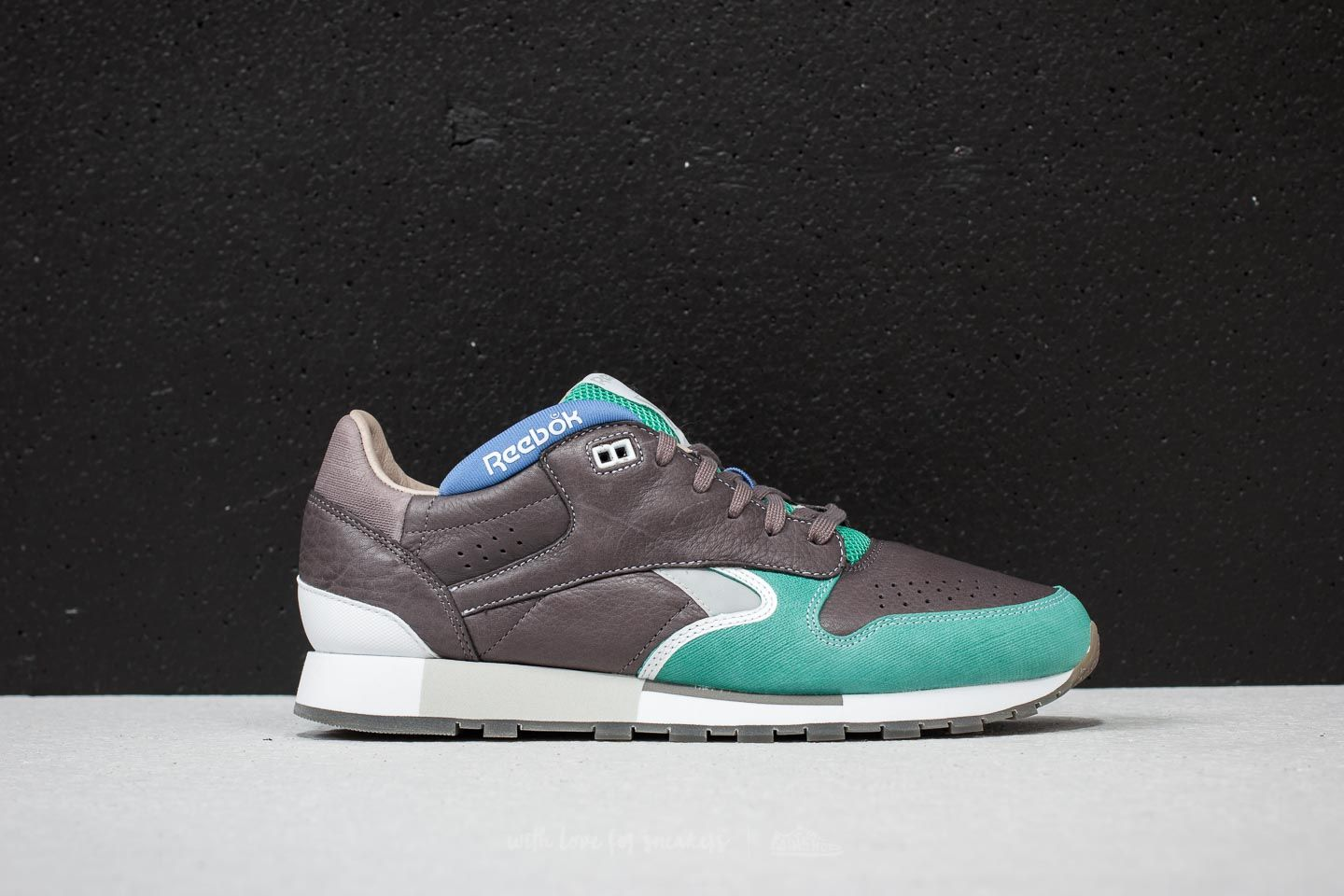 ef1b0845014 Reebok Classic Leather Urge Cool Grey  Green  White  Blue at a great price