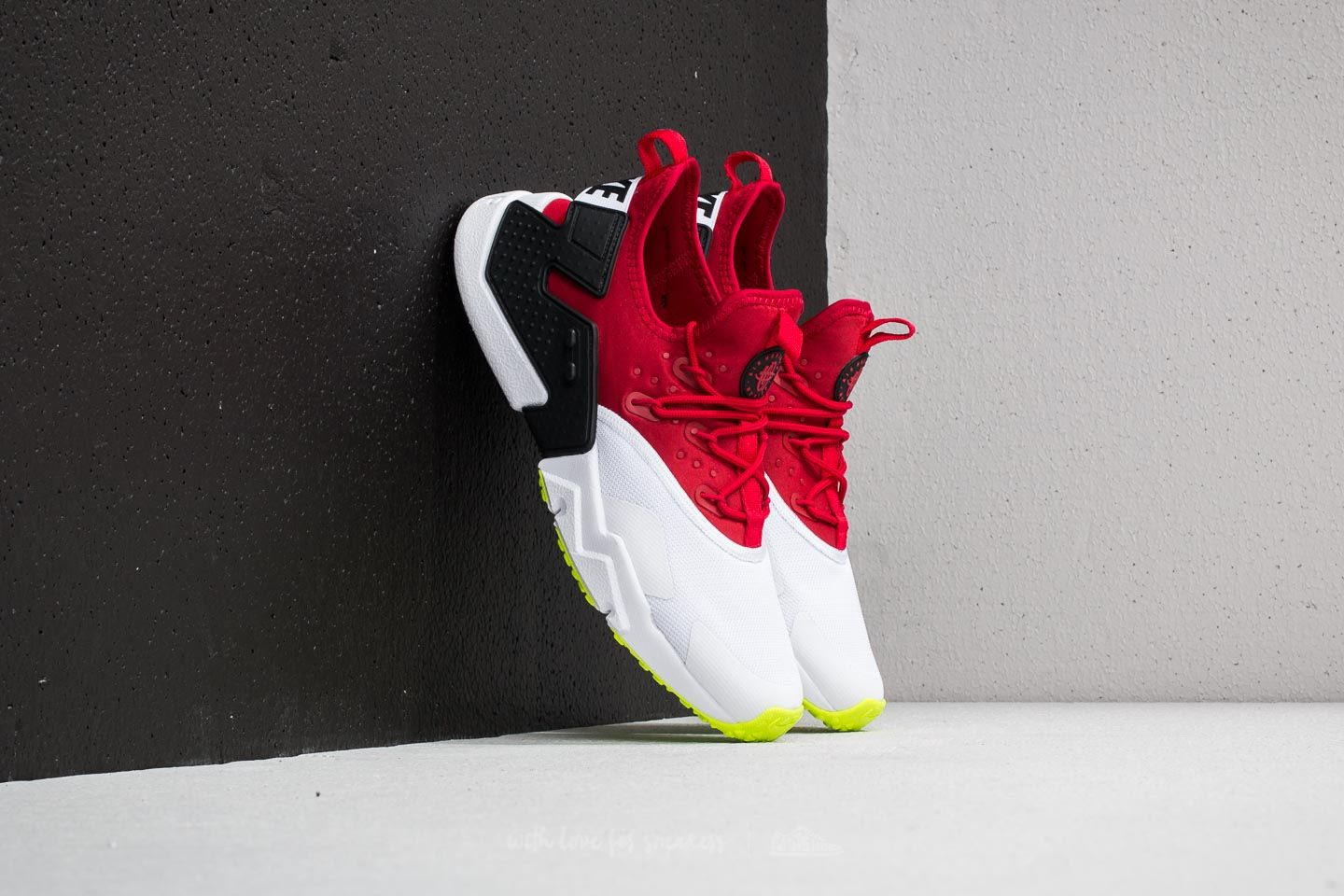 3e04ba6f02fbc Nike Air Huarache Drift Gym Red  White-Black-Volt