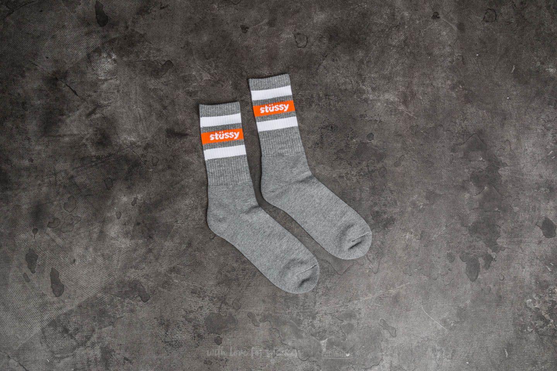 Calcetines Stüssy Stripe Sp18 Crew Socks Grey Heather