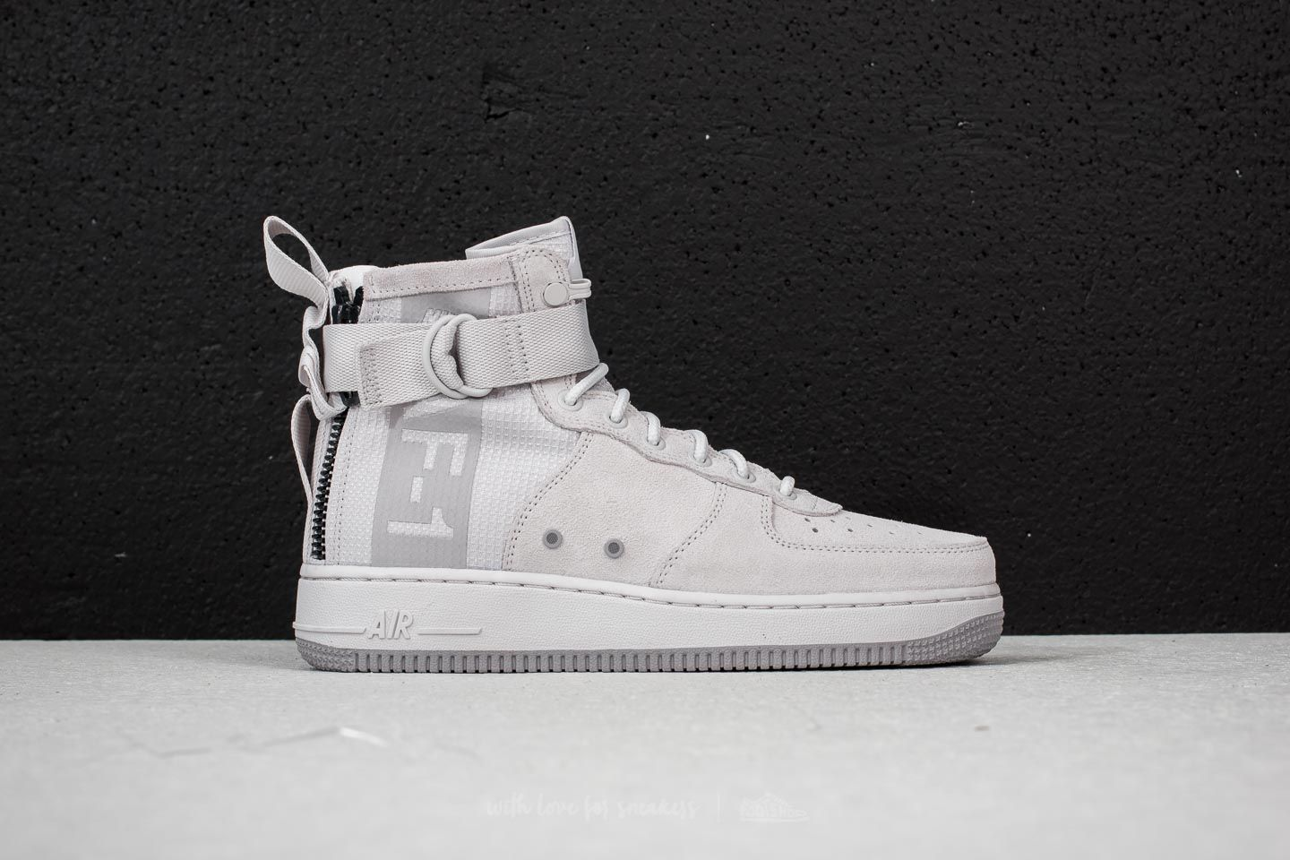 Nike Gray Sf Air Force 1 Mid Suede Vast Grey Atmosphere Grey for men