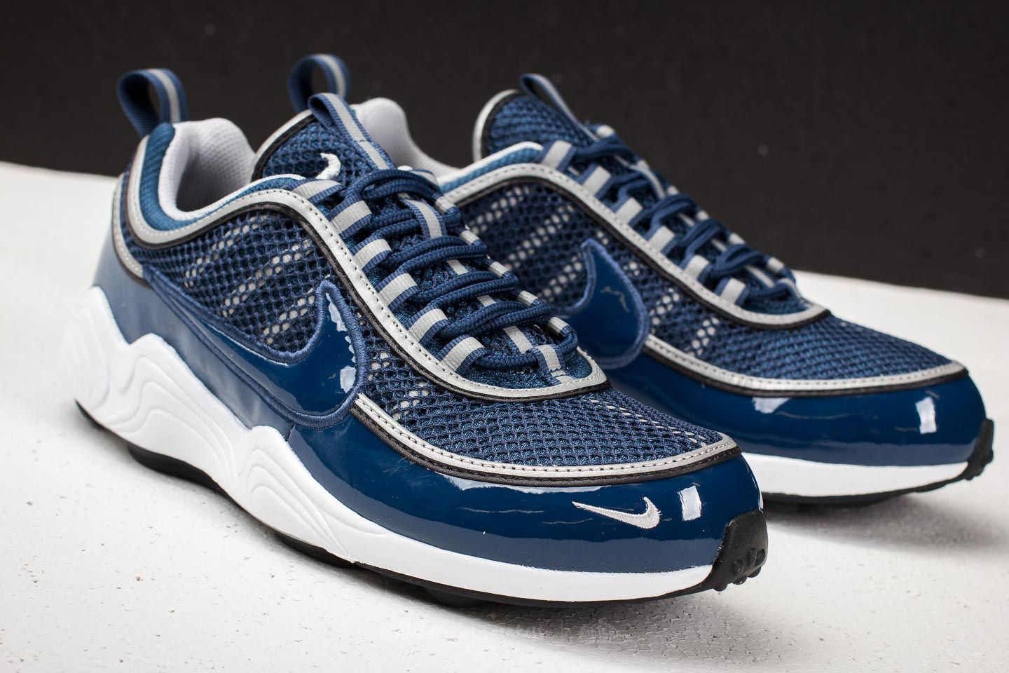 dbb88a37d2d8 ... best nike air zoom spiridon 16 navy wolf grey white at a great price  16d9b a38ee